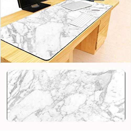 Lbonb Top-Größe Weiß Marmor Große Mauspad Lock Edge Spiel Computer Tastatur Pad Player Geschwindigkeitsregelung 70 * 30 Cm -
