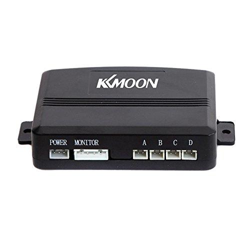 comprare on line KKMOON Sensori di Parcheggio Radar di Sostegno d'Inversione del Suono di Allarme + 4 Sensori (Nero) prezzo