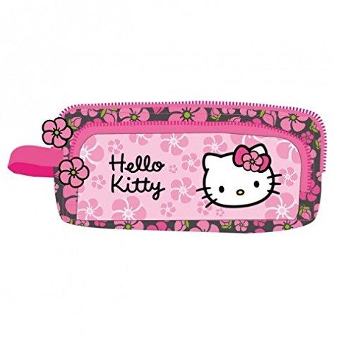 Hello Kitty Estuche 2Compartimentos Negra Rosa (HK38)