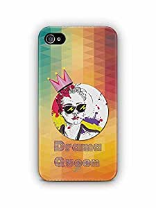 YuBingo Drama Queen Designer Mobile Case Back Cover for Apple iPhone 4