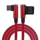 Prevently Mobiltelefon Datenkabel Micro USB Kabel 1M [ USB Schnellladekabel ] Kabel-Flachstecker Neue Geflochtene Typ-C/Micro USB Schnelle Daten Sync Ladekabel (Rot)