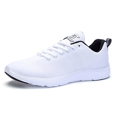 SEVENWELL Aktive Performance Gestrickte Sport Turnschuhe Athletische Laufschuhe für Damen Herren Weiß 245mm:6 UK=EUR 38.5 (Saucony-weiß Schuhe)