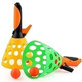 Togames-IT 1 Set Genitore-Bambino catapulta Tennis da Tavolo Palla da Lancio Giocattolo Perfetto per i Bambini all'aperto in Gomma interattiva Palle da Ping Pong Palla Giocattoli Haha