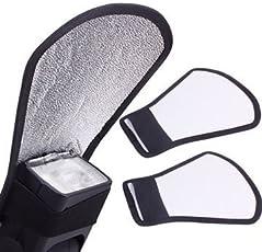 SHOPEE Mini Silver White Flash Diffuser Reflector for Camera