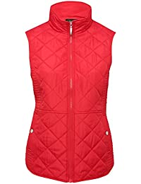 M&Co Ladies Light Sleeveless Quilted Funnel Neck Zip Front Gilet Body Warmer