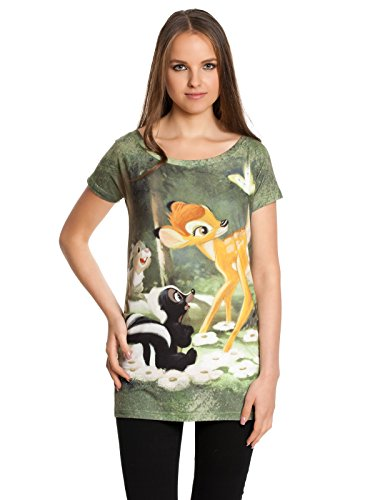 Walt Disney Bambi - Forest Maglia donna stampa allover XS