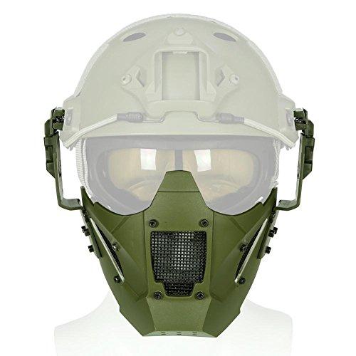 starter Krieger geformt Eisen halbe Gesichtsmaske Volltonfarbe Modul Maske für militärische Outdoor-Krieg Spiel Helm (Airsoft Draht)