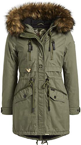 khujo Freja 2 1098CO183 Damen Winterjacke, 319 Pale Olive, M