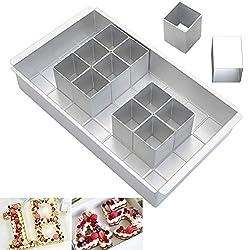 mixed24 Ausstechformen 10 Zahlen 0-9 Set Backform Pl/ätzchen Kekse Ausstecher