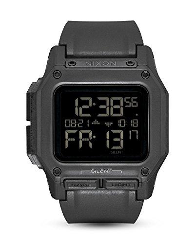 Nixon Unisex Digital Watch with Silicone Strap A1180-001-00