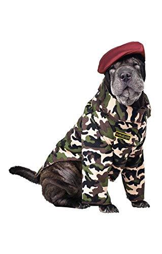 Horror-Shop Soldaten Hundekostüm