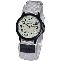 PELEX White Webbing Strap Watch Luminous Watch (Glow in the Dark)