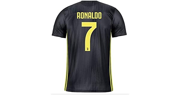 2ac9e57e55c GOLDEN FASHION Non Branded Juventus Third KIT with Ronaldo Print 2018 19  ONLY Jersey