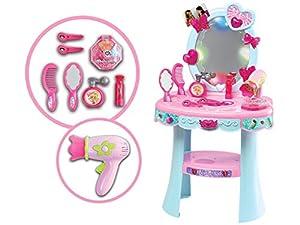 TEOREMA 66331 - Espejo mágico, Luminoso y Musical, Color Rosa y Azul