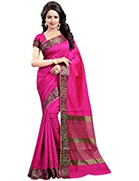 Vatsla Enterprise Women's Cotton Silk Saree (VNASHATR004PINK_PINK)
