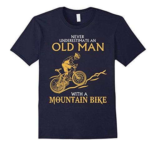 never-underestimate-an-old-man-with-a-mountain-bike-t-shirt-herren-grosse-xl-navy