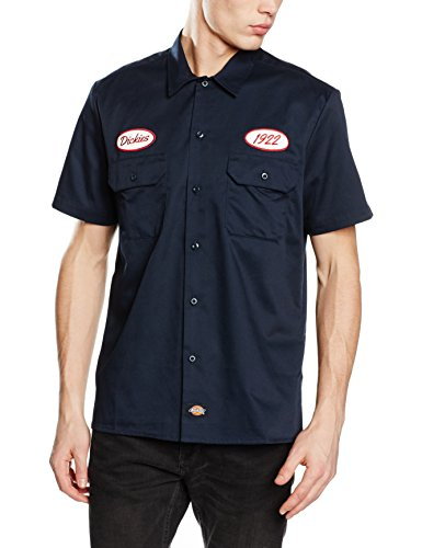 dickies-rotonda-south-camisa-para-hombre-azul-dark-navy-medium-tamao-del-fabricantemedm
