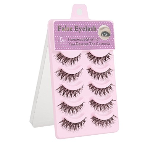 Ditya 5 Pairs Cotton Stalk Natural Long False Eyelashes