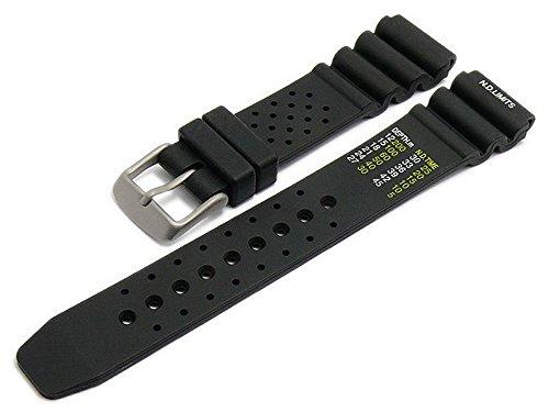 Meyhofer Uhrenarmband Wilhelmshaven 20mm schwarz Silikon Taucher-Look Titanschließe MyHekskb188/20mm/schwarz/oN