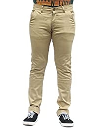 Men's Khaki Slim Fit Trouser