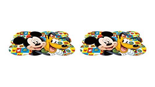 ALMACENESADAN 2462; Confezione 2 tovaglie Disney e Topolino Disney; Dimensioni 43x29 cm; Prodotto di plastica; No BPA