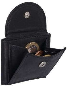 Cartera muy pequeña para señores Monedero para señoras LEAS, Piel auténtica, negro - ''LEAS Mini-Edition''