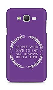 AMEZ people who love to eat are always the best people Back Cover For Samsung Galaxy J7