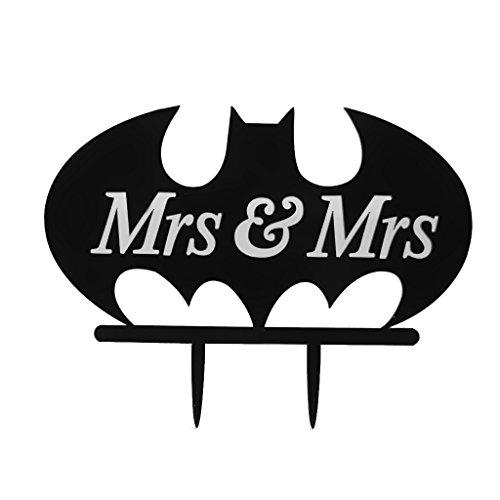Mrs & Mrs Kuchendeckel Fuer Lesbische Hochzeit Geburtstag Kuchen Dekor