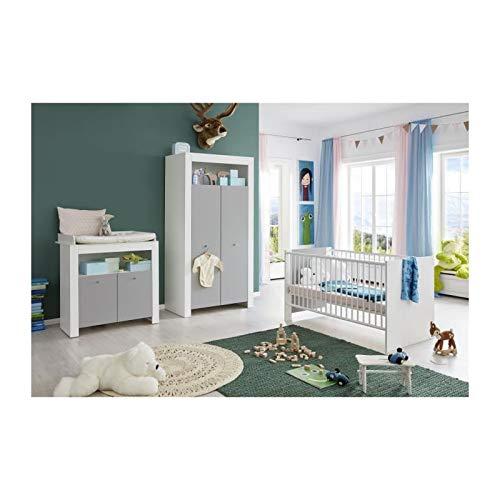 Trendteam Chambre bébé Wilson 3 Pieces : Armoire + lit + Commode