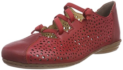 Rieker 53975, Bailarinas Mujer, Rojo Rosso, 36 EU
