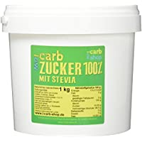 -Carb Zucker 100% Erythritol + Stevia (1 kg)