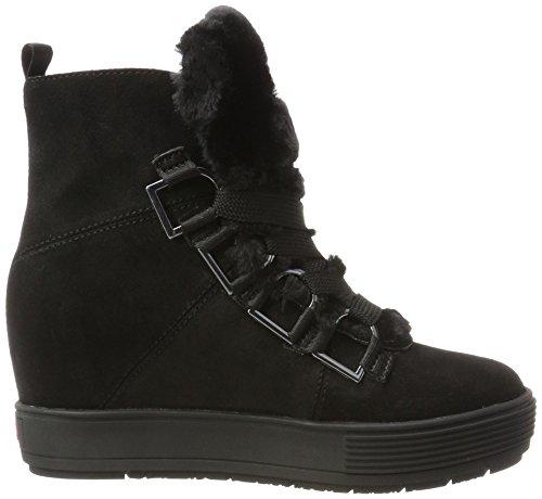 Fornarina Damen Meti Hohe Sneaker Schwarz (Black)