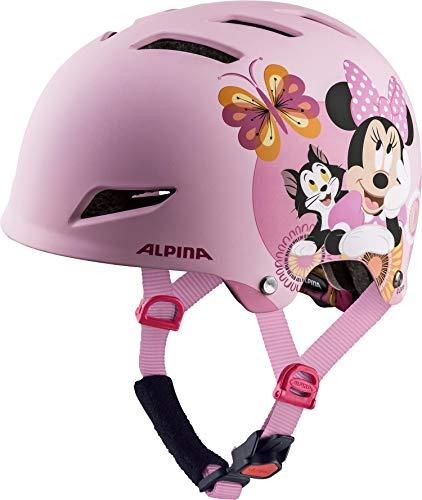 Alpina Park JR - Parque para niña Casco de Bicicleta, diseño de Minnie Mouse de Disney, 51-55 cm