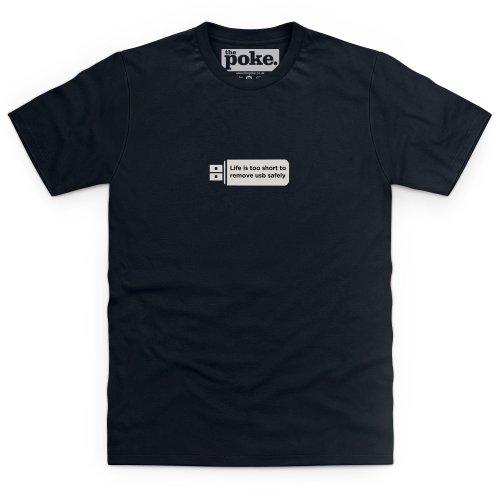 Life's Too Short T-Shirt, Herren Schwarz