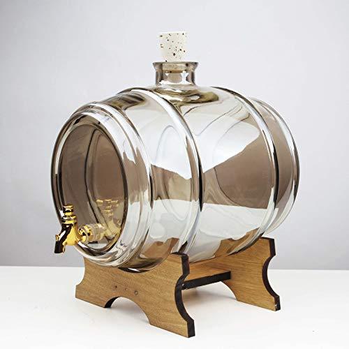 Gr/ün BIOWIN 3,8 L Weinfass Whiskyfass Schnapsfass Fass mit Zapfhahn Getr/änkefass Fass