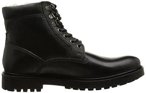 Base London Roebuck, Bottes Rangers homme Noir (Pull Up Black)
