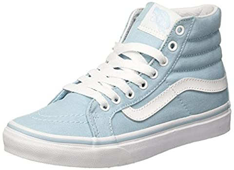 Vans Women UA SK8 Slim Hi-Top Sneakers, Blue (Crystal Blue/True White), 5.5 UK 38 1/2 EU