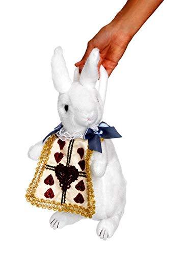 Horror-Shop Weiße Kaninchen Handtasche als Kostümzubehör (Niedliche Alice Im Wunderland Kostüm)