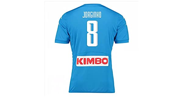 half off c4b54 bad1f Men's SSC Napoli 8 Jorginho Home Soccer Football Jersey ...