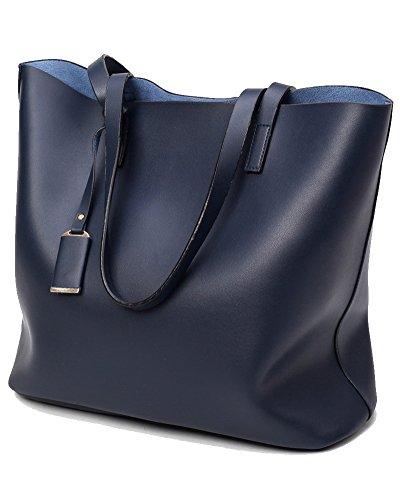 Damen Handtaschen Shopper Messenger Bags Einkaufstasche Mit Beutel Geldbörse Blau Blau