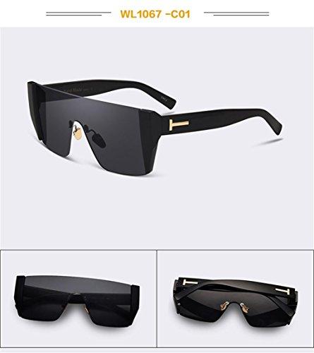 WANGMIN® Sonnenbrille Mode Dame Women Sun Brille Original Brand Designer Brille Weibliche Schutzbrille Uv400 , C (Damen-unterwäsche Gucci)