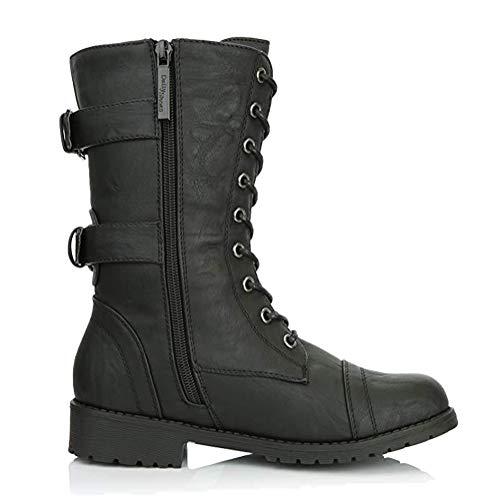 Minetom Bottine Femmes Plates Boots Femme Cuir Cheville...