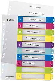 Leitz Intercalaires 1-10, Imprimable sur PC, A4, Extra-Large, Plastique Ultra-Résistant, Multicolore, WOW, 124