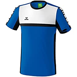 ERIMA Children's T-Shirt with 5Cubes Motif blue New Royal/Schwarz/Wei Size:164 (EU) by Erima