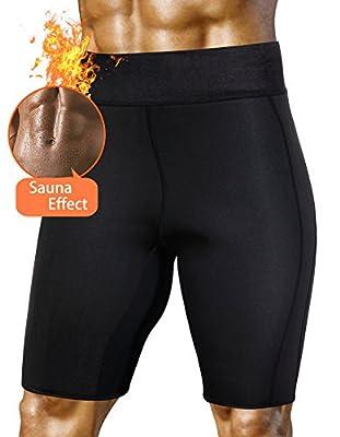 Men Training Shorts Running Gym Clothing Hot Sweat Body Weight Loss Shaper Neoprene Sport Wear