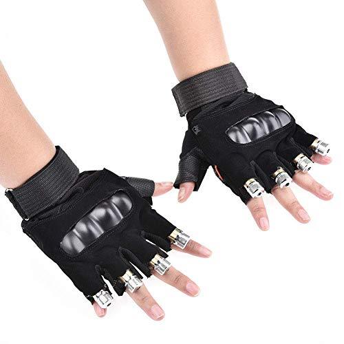 SHXP Führte Bunt Blinkende Finger-Licht Handschuhe Für Erwachsene Jugendliche (Eine),Leftandrighthand,5Heads