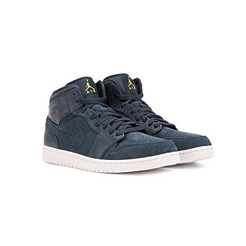 554724 421|Nike Air Jordan 1 Mid Sneaker Dunkelblau|45,5 (Nike Jordan 1 Mid)