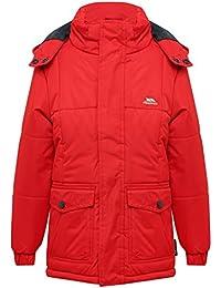 M&Co Trespass Kids Long Sleeve Detachable Hood Zip Fastening Water Resistant Adjustable Cuff Winter Coat
