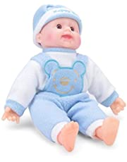 Cuddles collections Happy Baby Laughing Musical and Doll, Touch Sensors with Sound Boy (Blue)