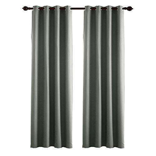 Deconovo tende oscuranti termiche isolanti con occhielli grigio chiaro 140x175 cm due pannelli